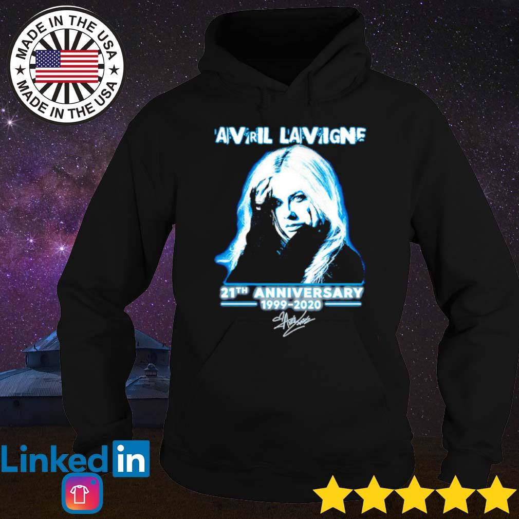 Avril Lavigne 21th Anniversary 1999-2020 signature s Hoodie