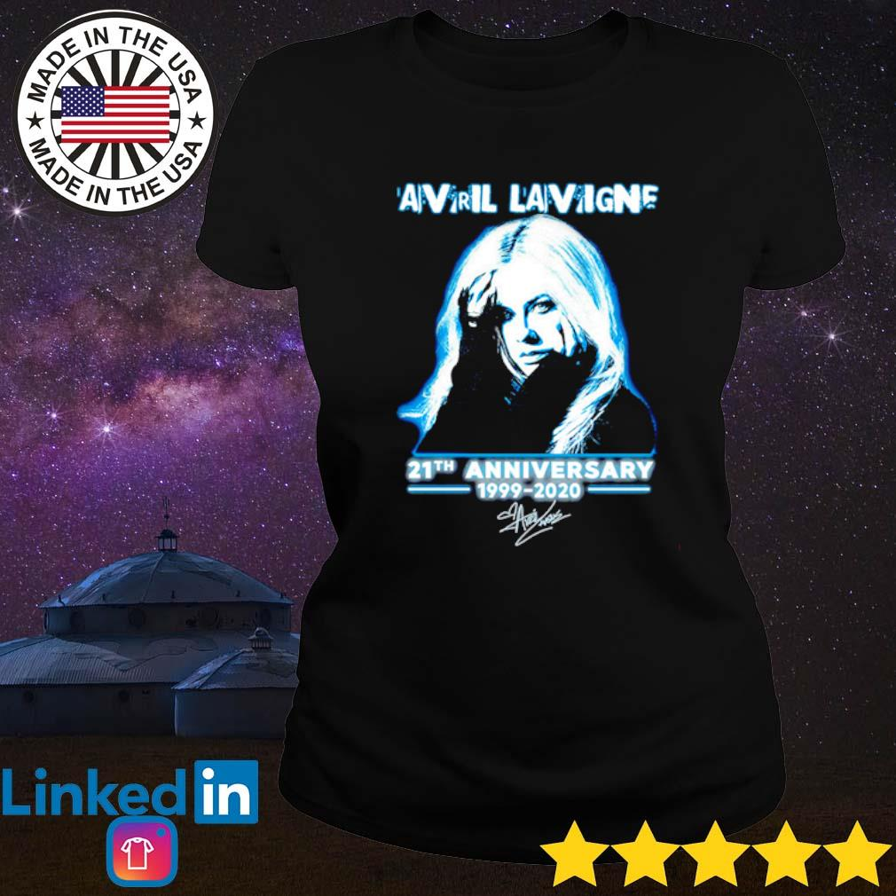 Avril Lavigne 21th Anniversary 1999-2020 signature s Ladies tee