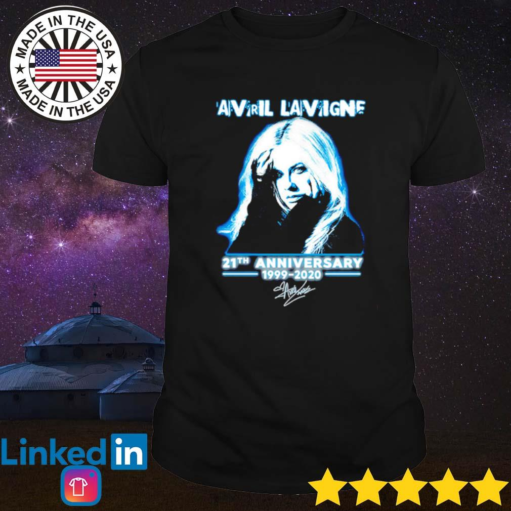 Avril Lavigne 21th Anniversary 1999-2020 signature shirt