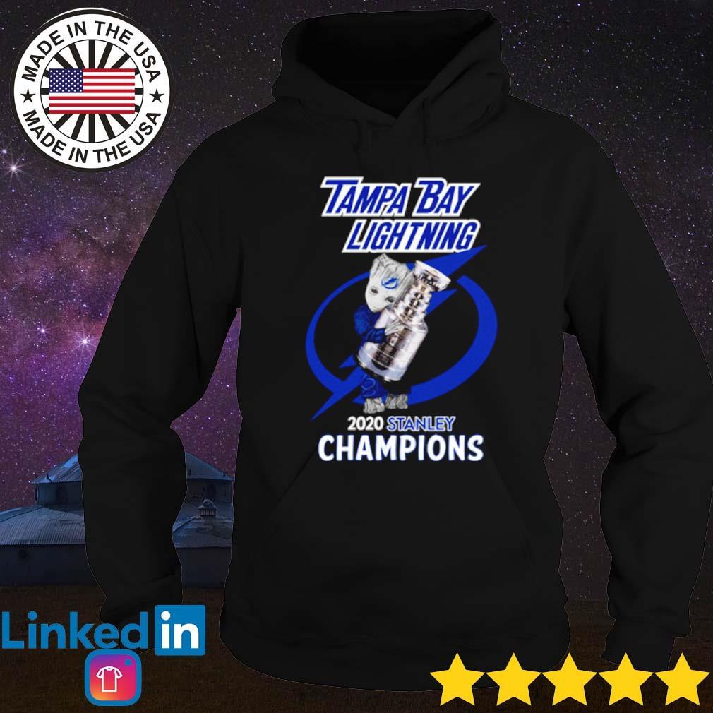 Baby Groot Tampa Bay Lightning 2020 stanley champions s Hoodie