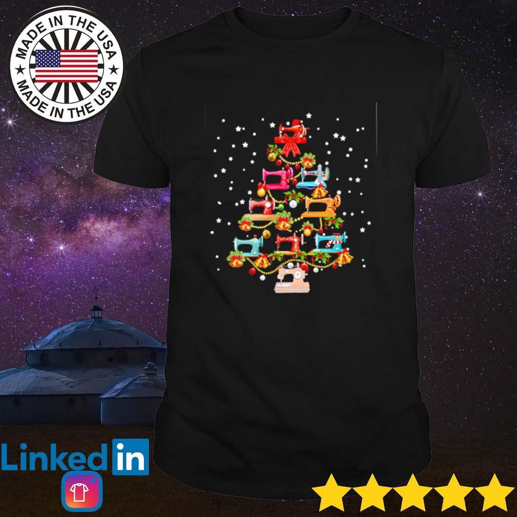 Christmas tree Sewing machine shirt
