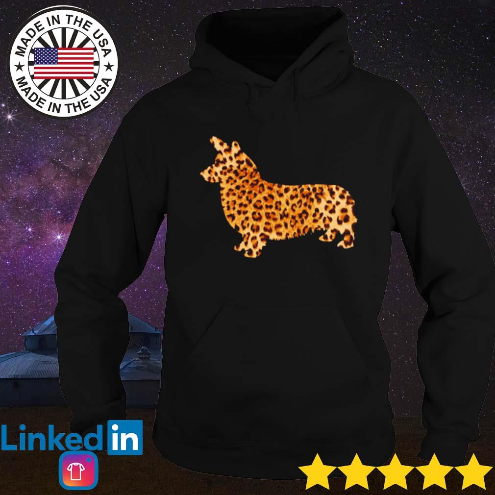 Corgi leopard s Hoodie Black