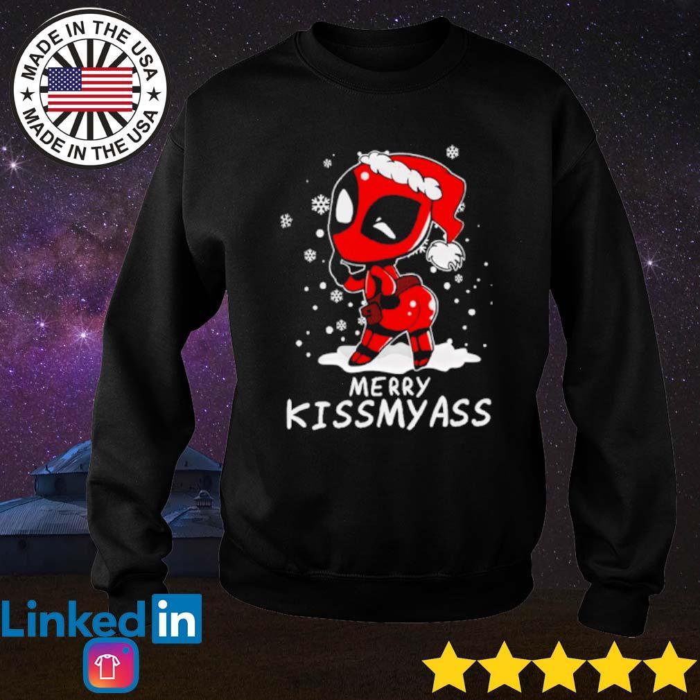 Deadpool merry kissmyass Christmas sweater