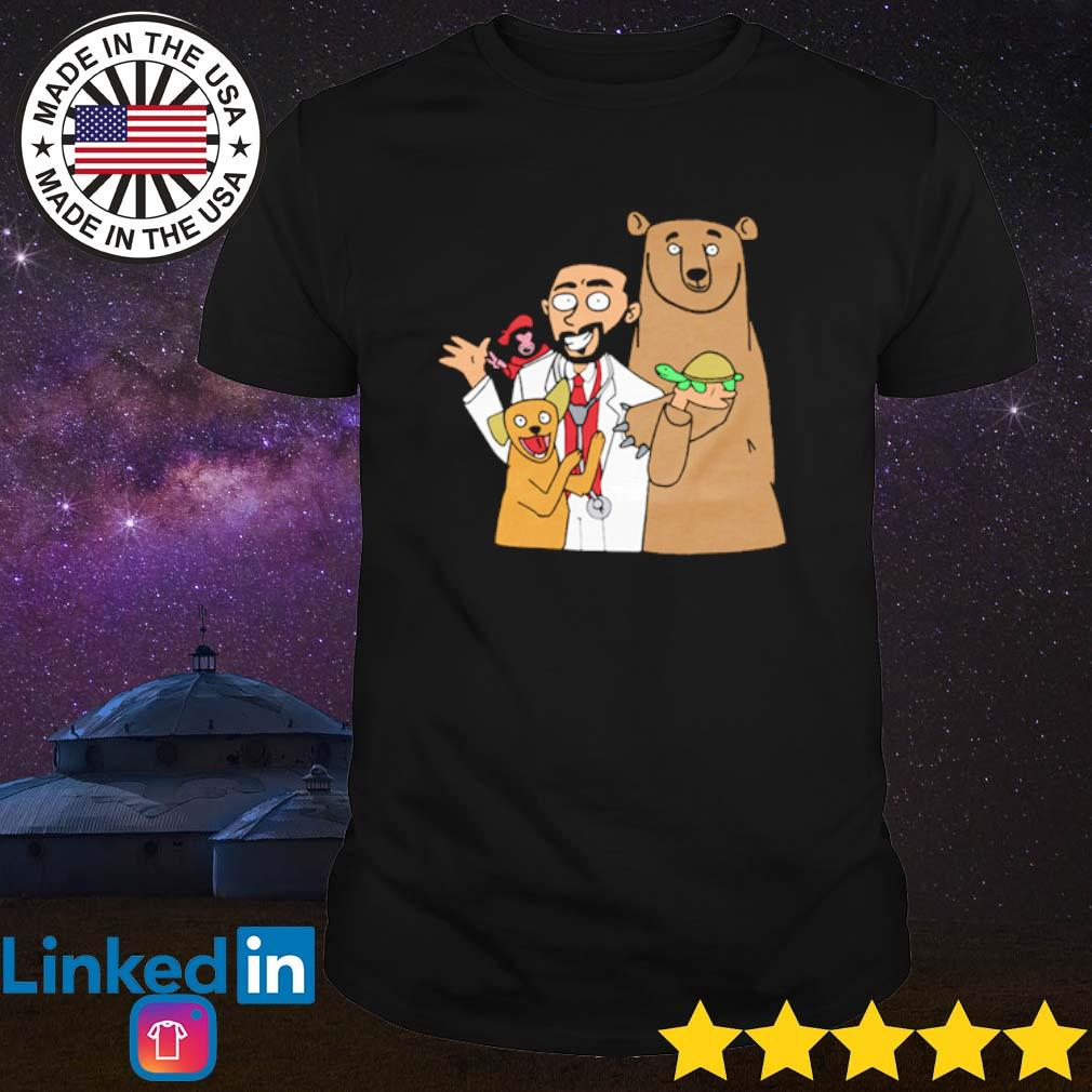 Doctor with bear dog and monkey Brother nature merch shirt
