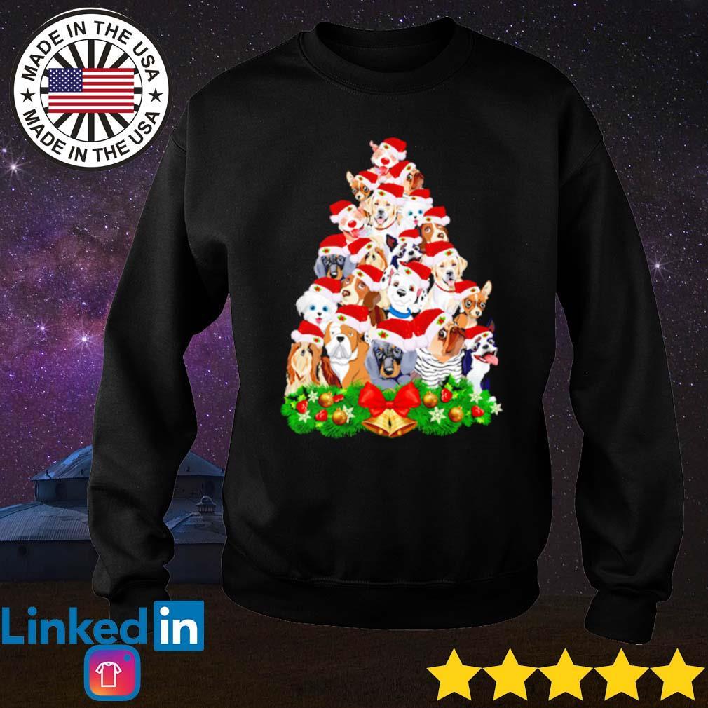 Dogs tree merry Christmas sweater