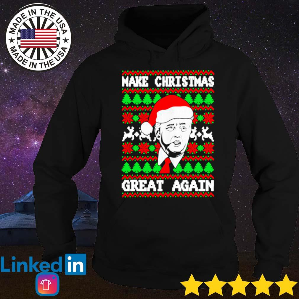 Donald Trump make Christmas great again ugly sweater Hoodie