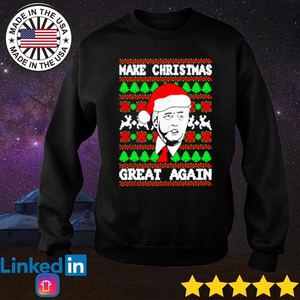 Donald Trump make Christmas great again ugly sweater