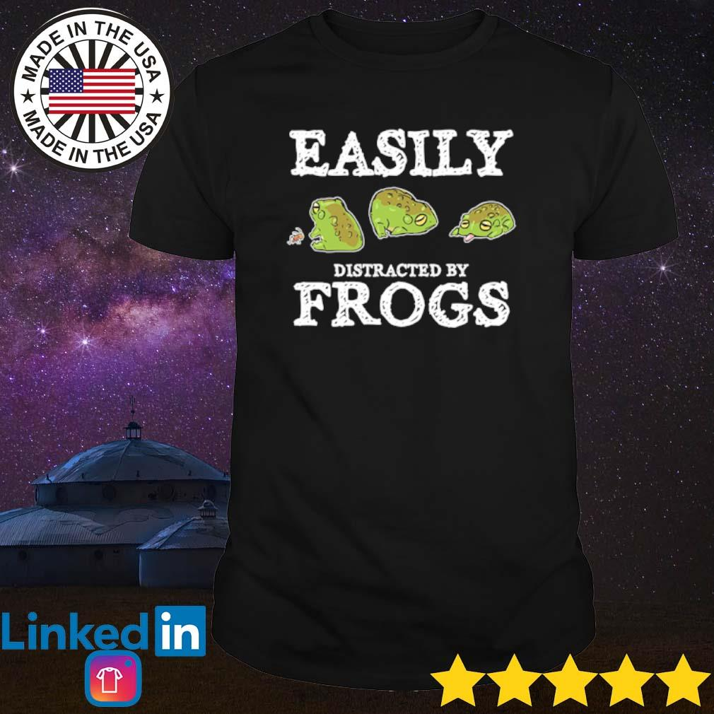 Easily distracted by frogs shirt