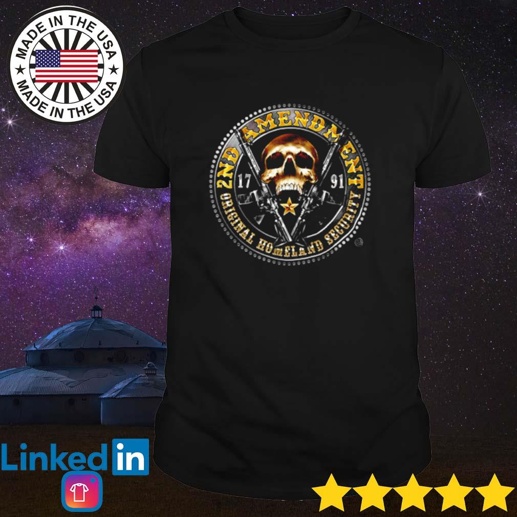 Erazor skull 2nd Amendment homeland security shirt