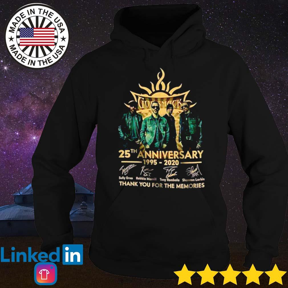 Godsmack 25th Anniversary 1995-2020 thank you for the memories signatures s Hoodie