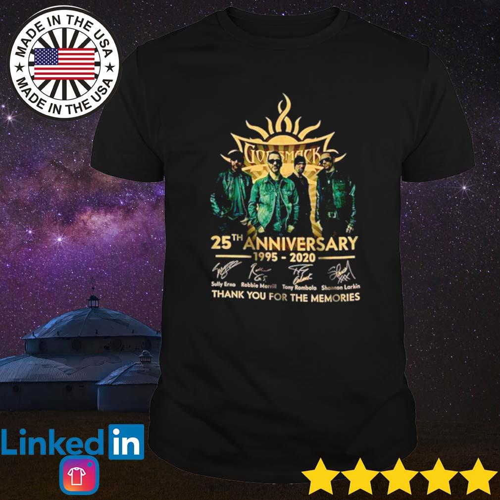 Godsmack 25th Anniversary 1995-2020 thank you for the memories signatures shirt