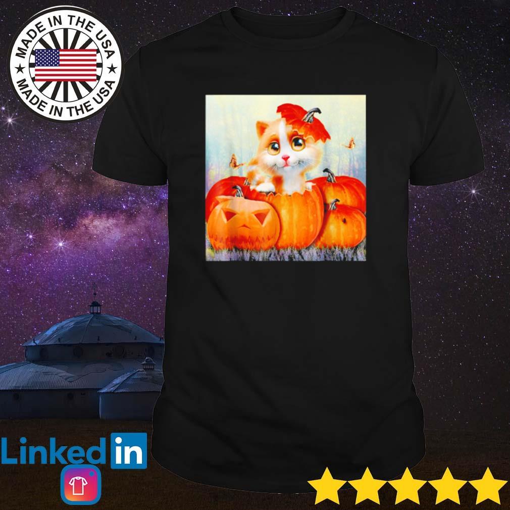 Halloween cat pumpkin shirt