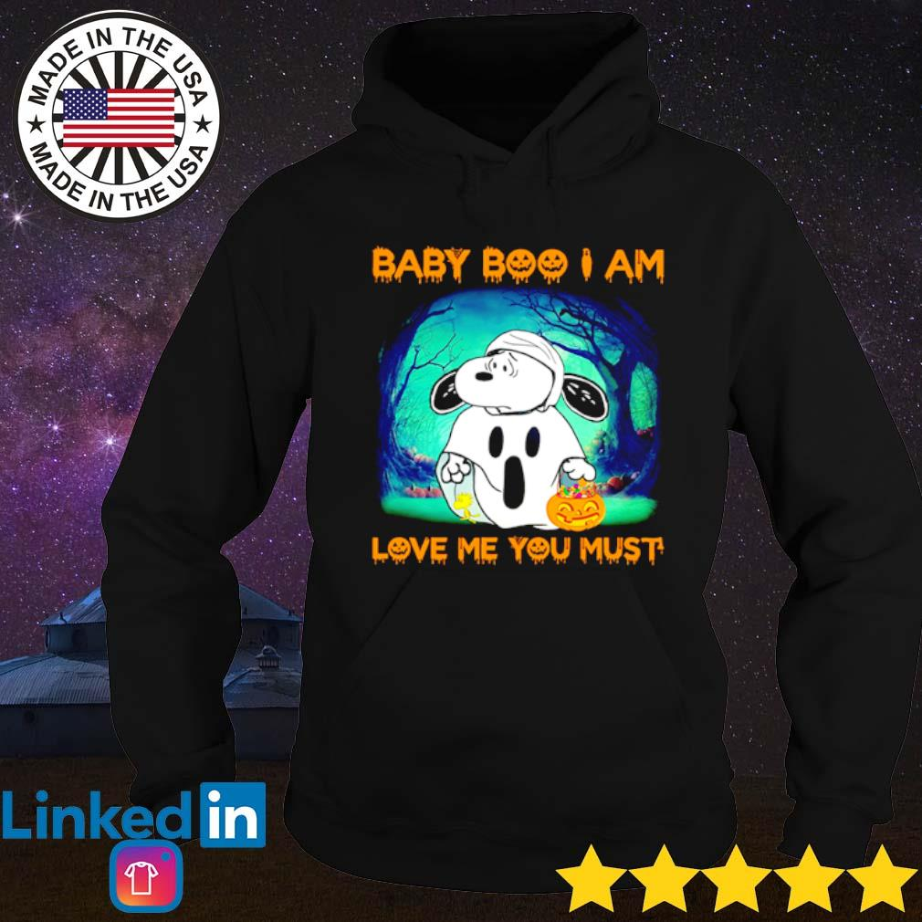 Halloween Snoopy Baby Boo I am love me you must s Hoodie Black