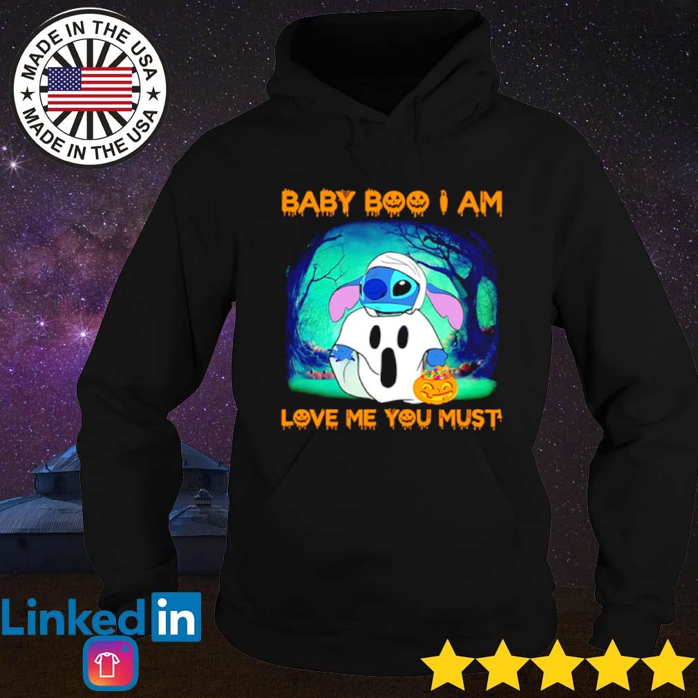 Halloween Stitch Baby Boo I am love me you must s Hoodie Black