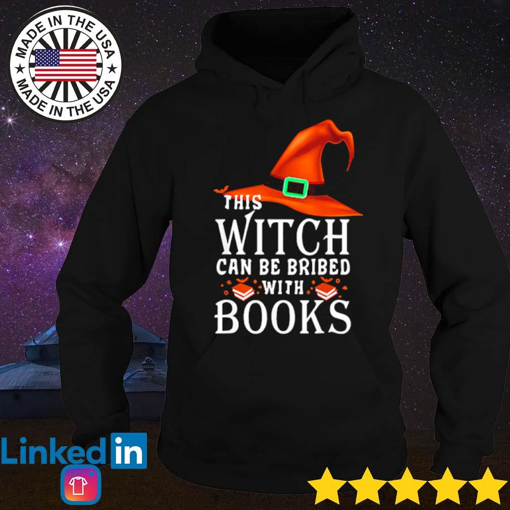 Halloween this witch can be bribed with books s Hoodie