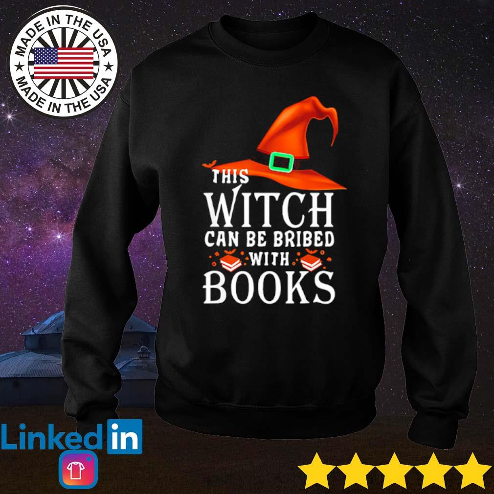 Halloween this witch can be bribed with books s Sweater