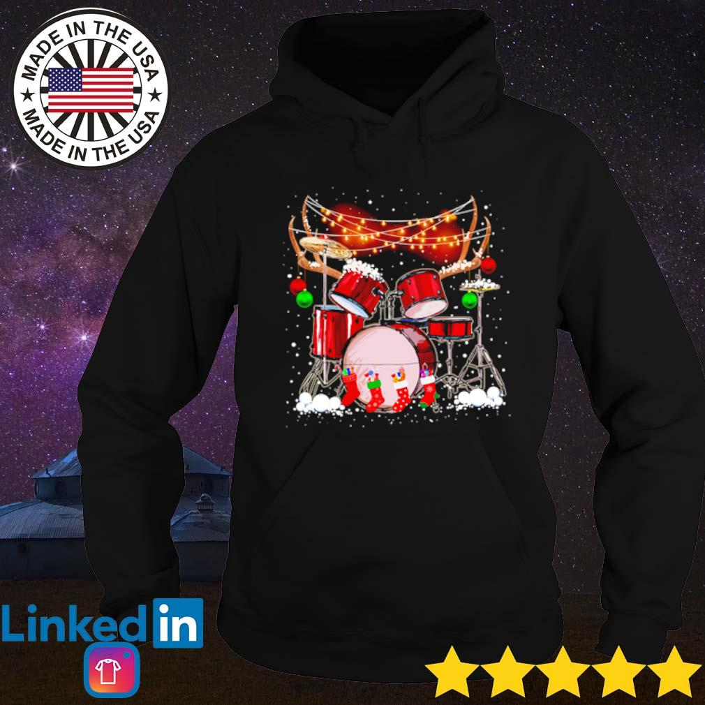 It's Christmas time for drummers s Hoodie Black