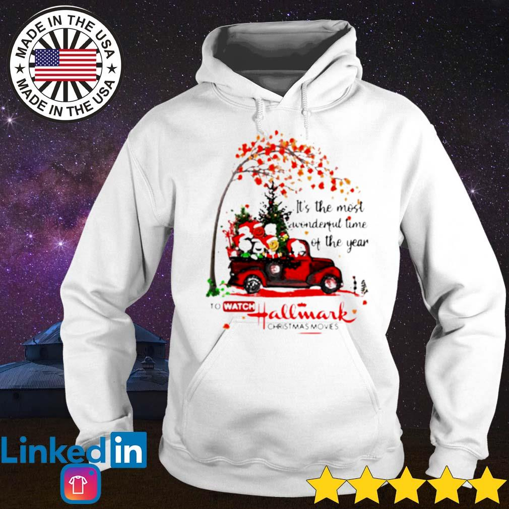 It's the most wonderful time of the year to watch Hallmark Christmas movies the peanuts sweater Hoodie