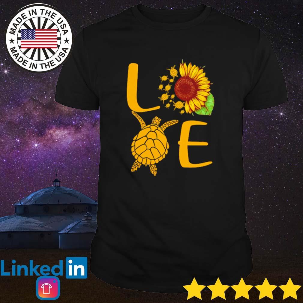 Love turtles sunflower shirt