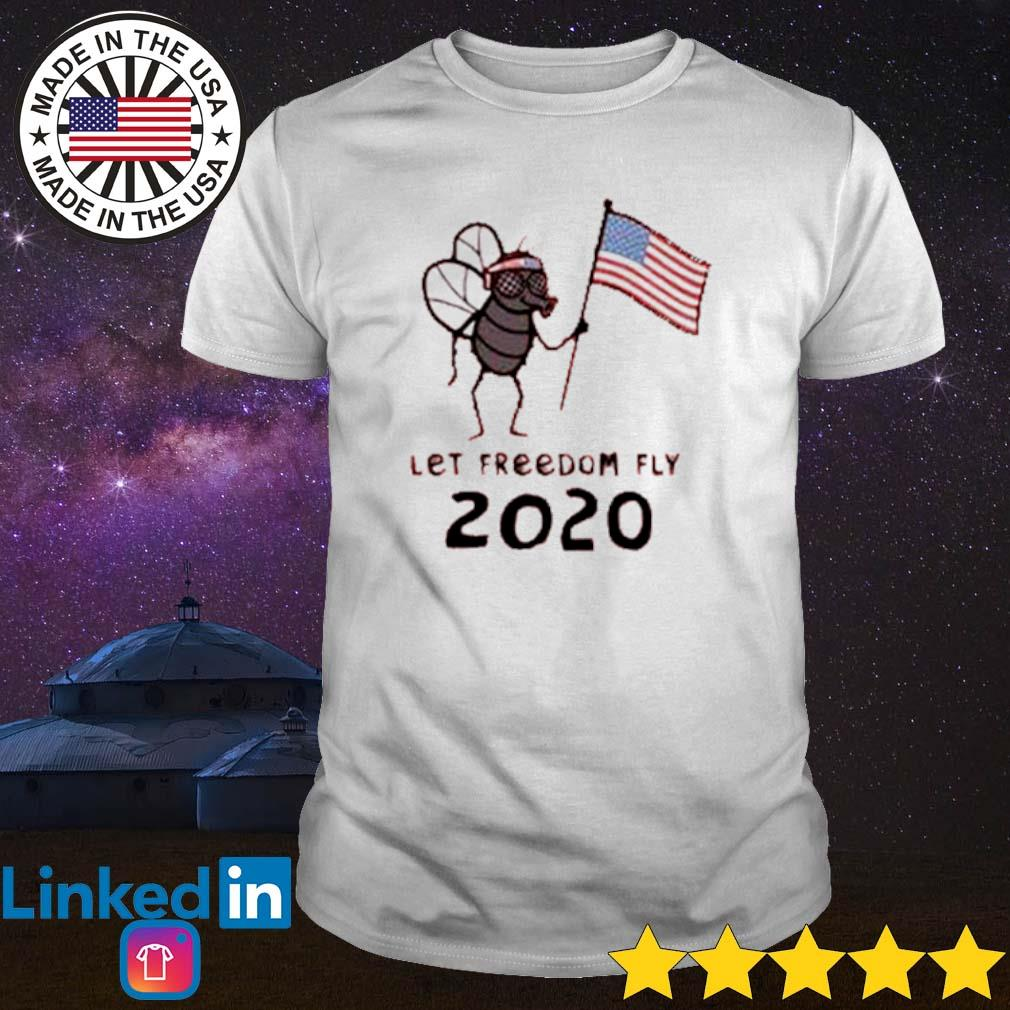 Mosquito hold American flag let freedom fly 2020 shirt