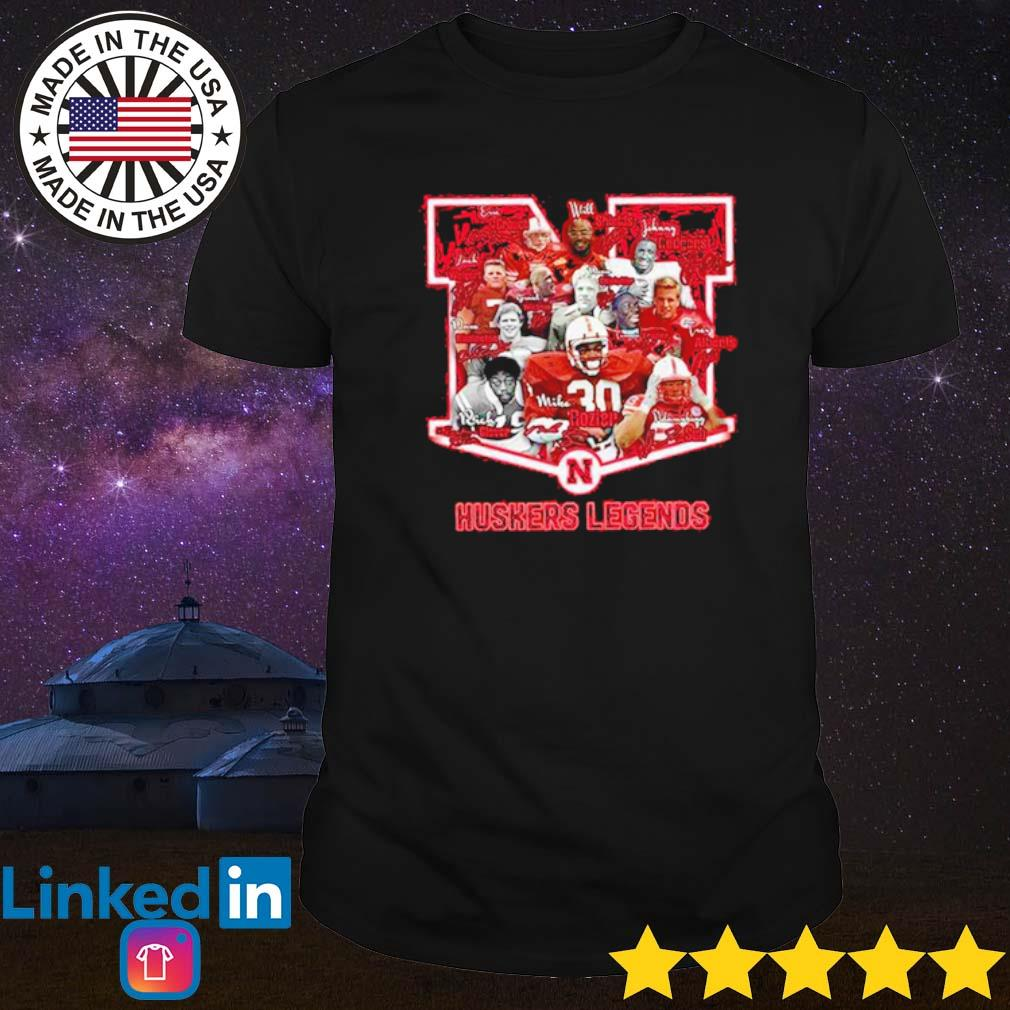 Nebraska Cornhuskers legends team players signatures shirt