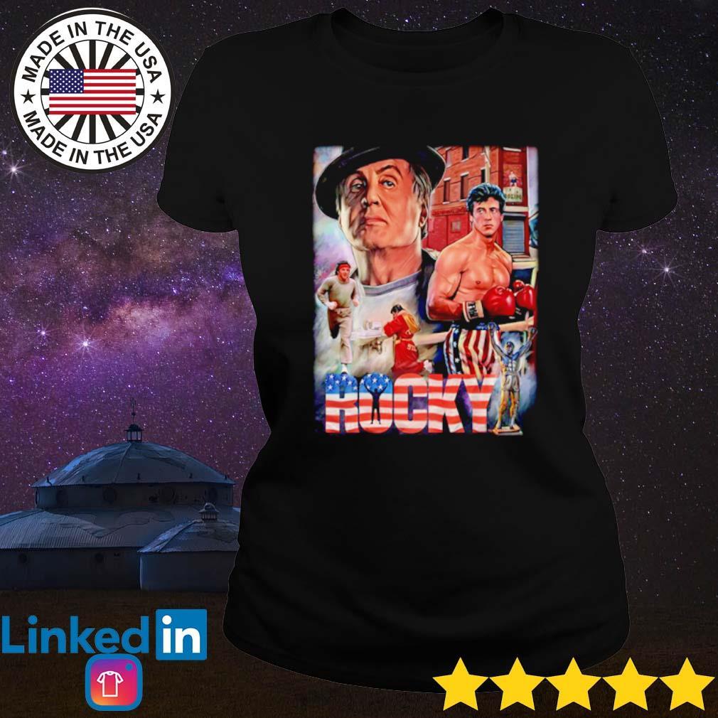 Rocky movies American s Ladies tee
