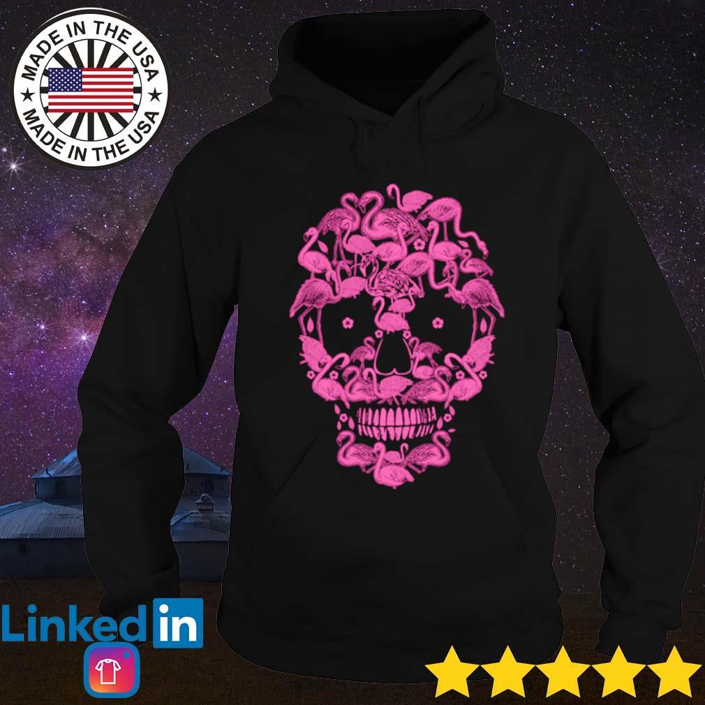Skull flamingos s Hoodie Black