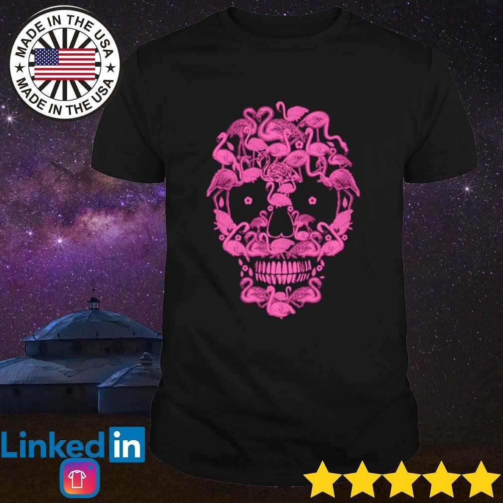 Skull flamingos shirt