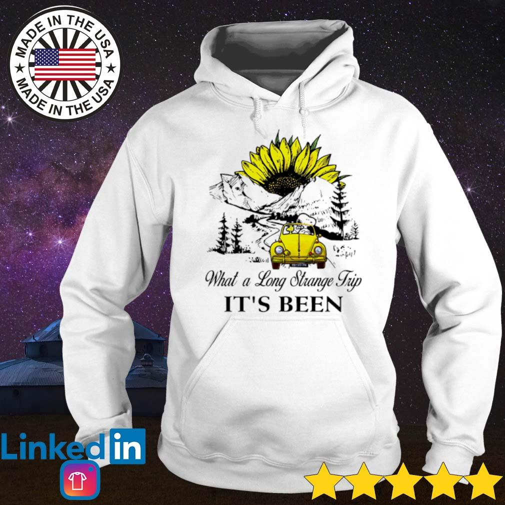 Snoopy and Woodstock driving volkswagen what a long strange trip it's been s Hoodie