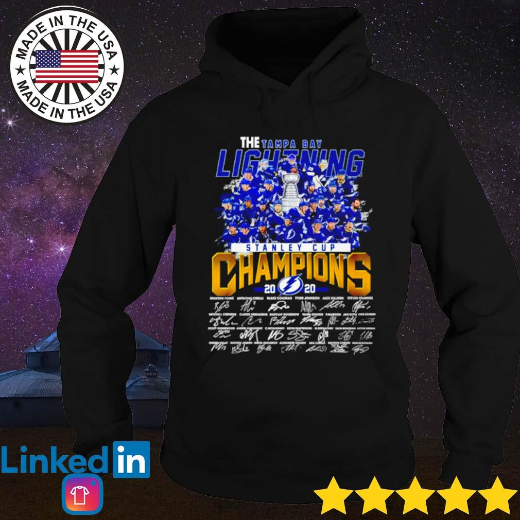 The Tampa Bay Lightning stanley cup Champions 2020 all players signatures s Hoodie Black