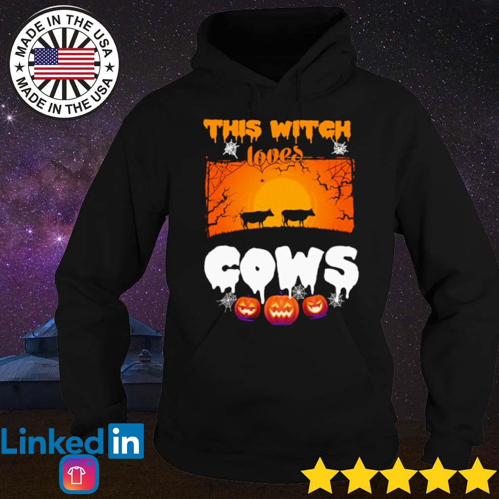 This witch loves cows Halloween s Hoodie