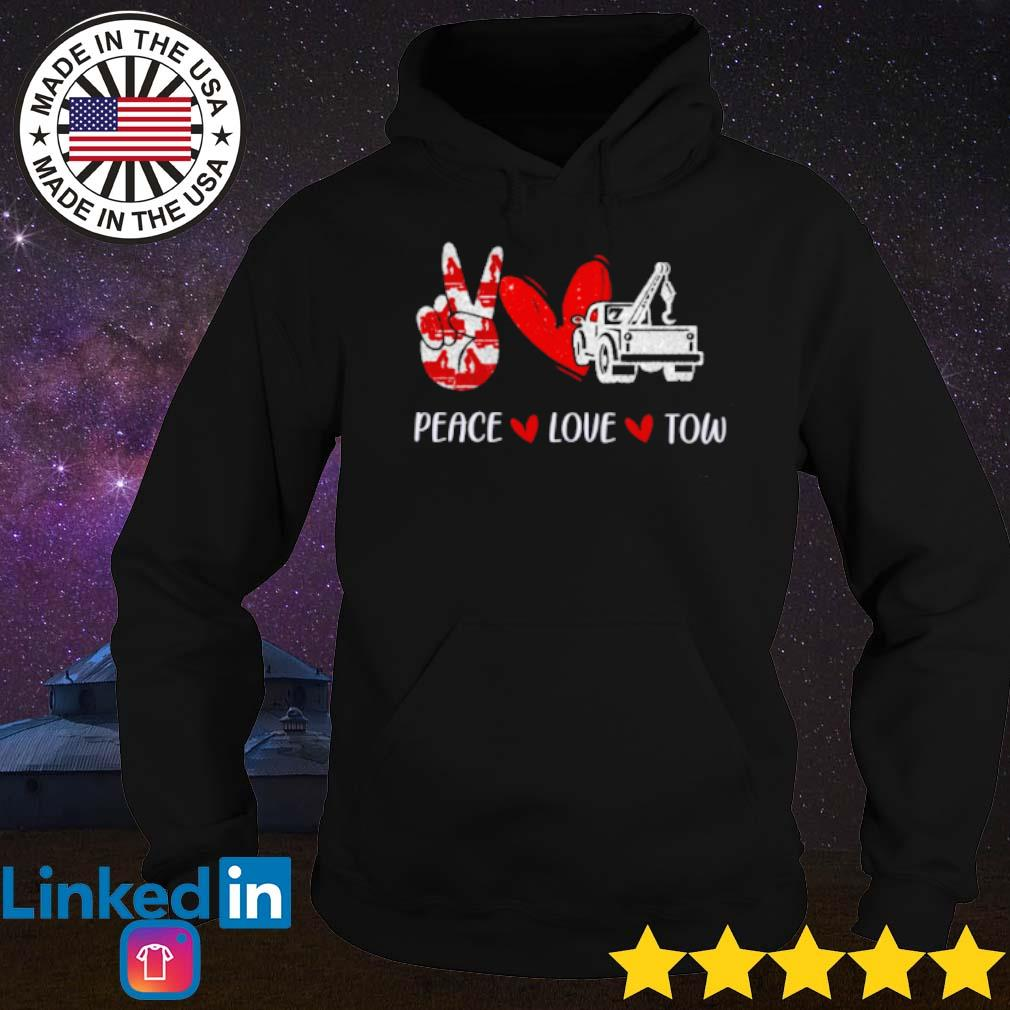 Truck peace love tow s Hoodie