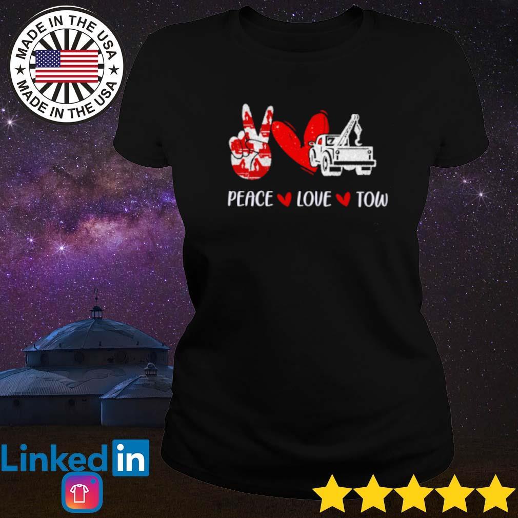Truck peace love tow s Ladies tee