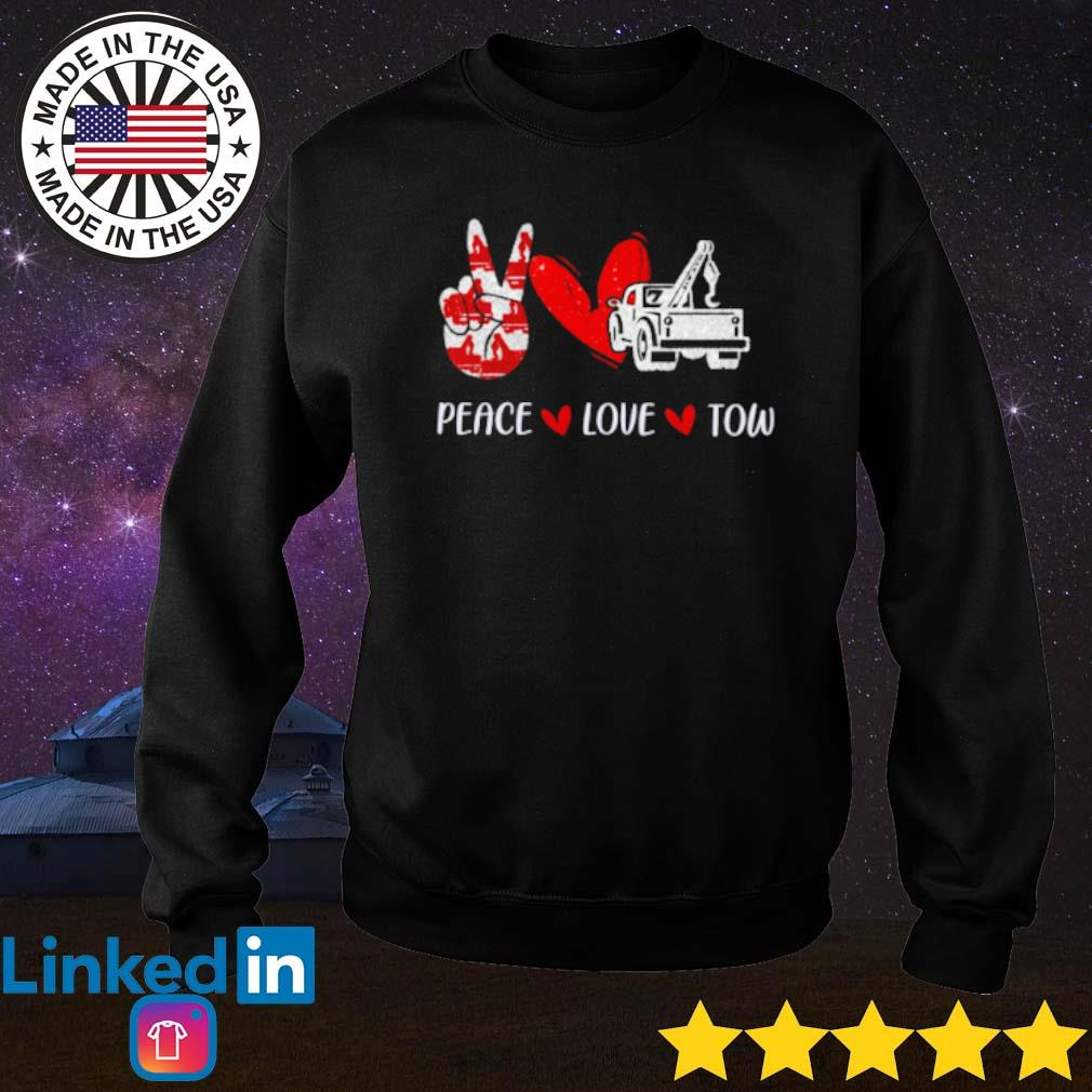 Truck peace love tow s Sweater