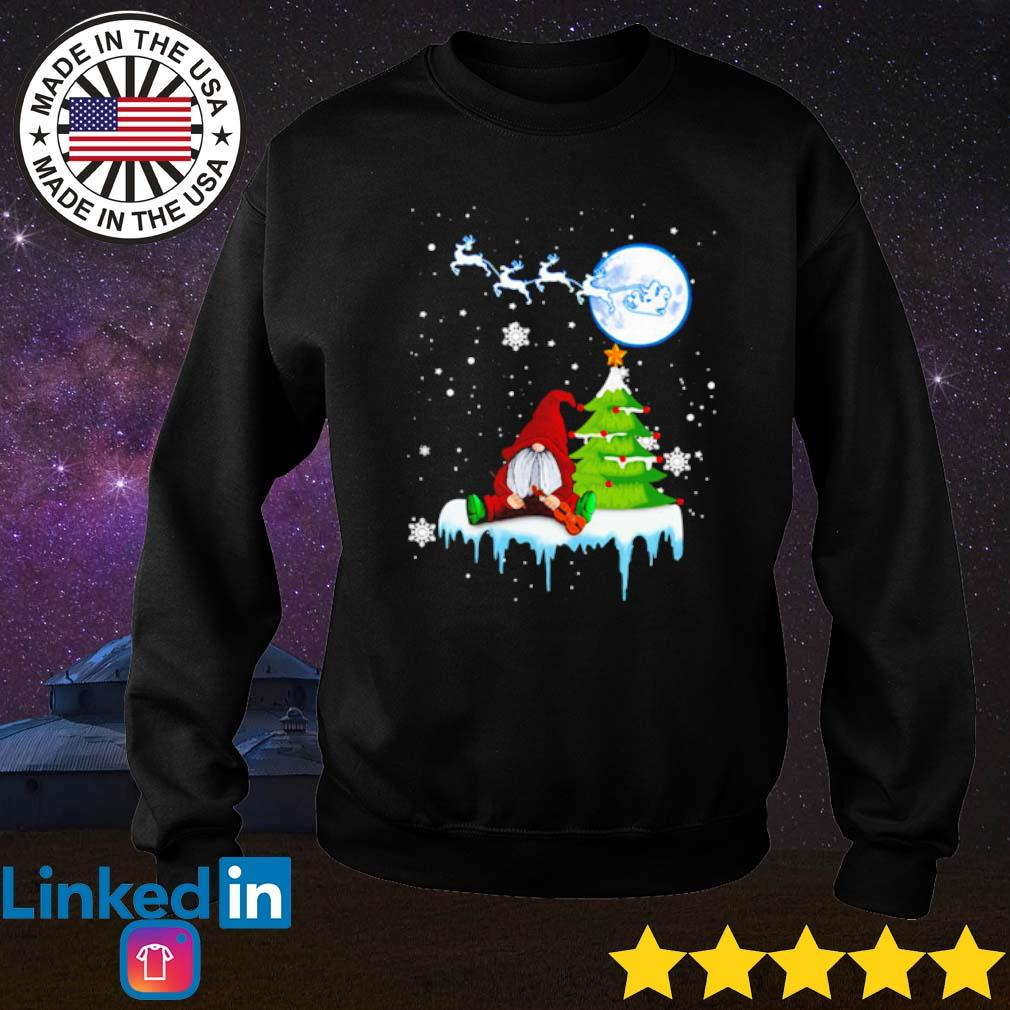 Gnome play violin Merry Christmas sweater