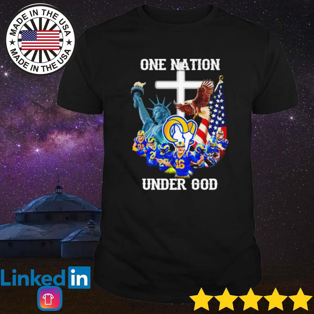 Los Angeles Rams one nation under God shirt