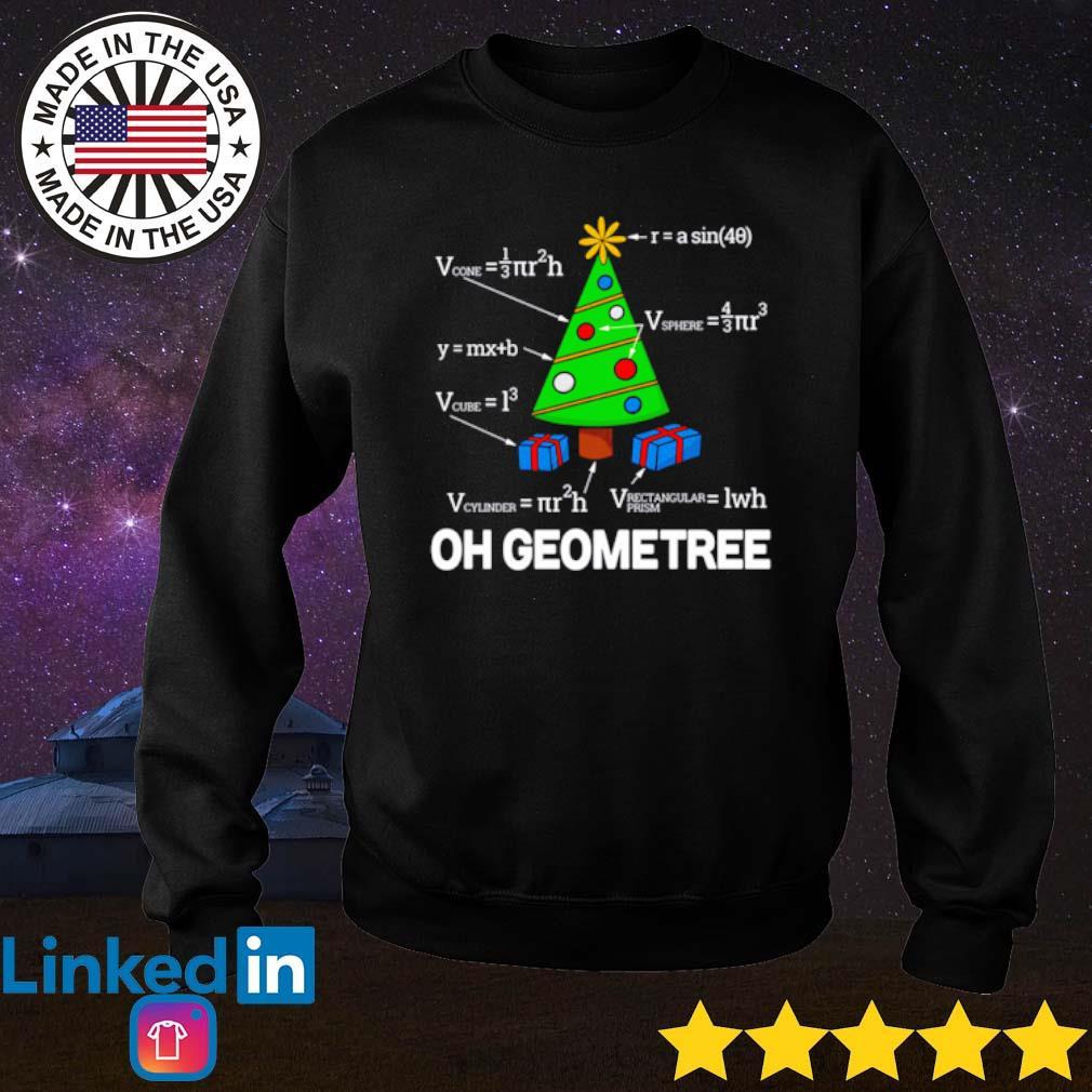 Oh Geometree math Christmas sweater