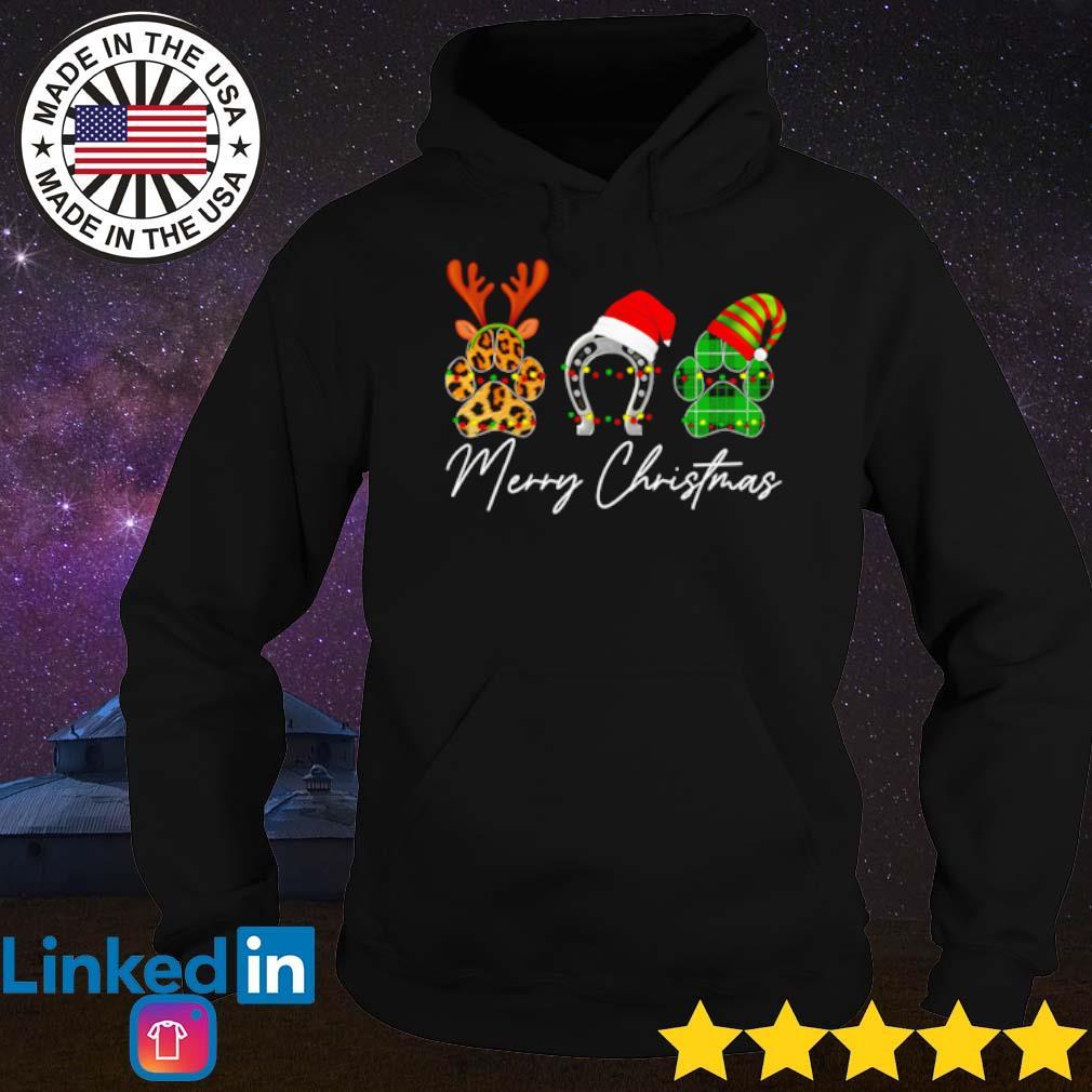 Paw dog reindeer Elf Christmas sweater Hoodie