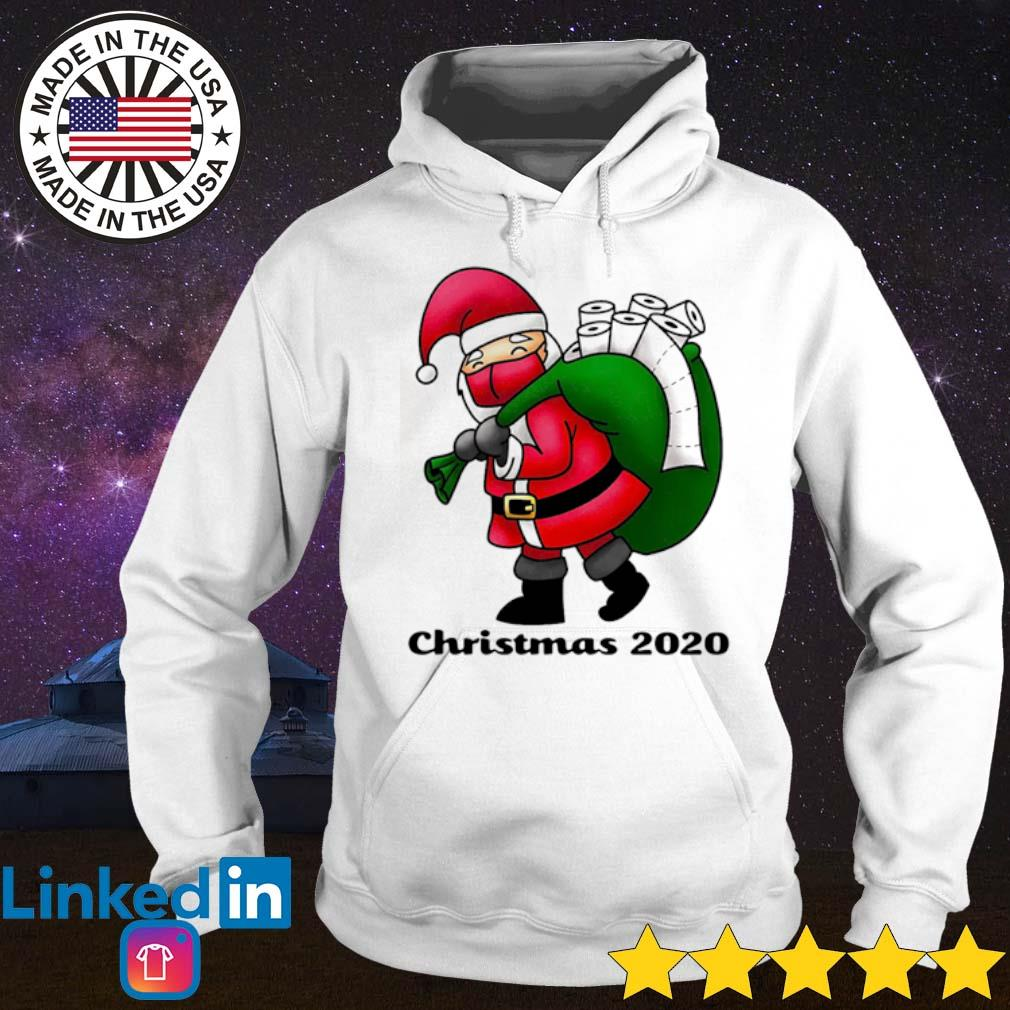 Santa face mask and toilet paper Christmas 2020 sweater Hoodie