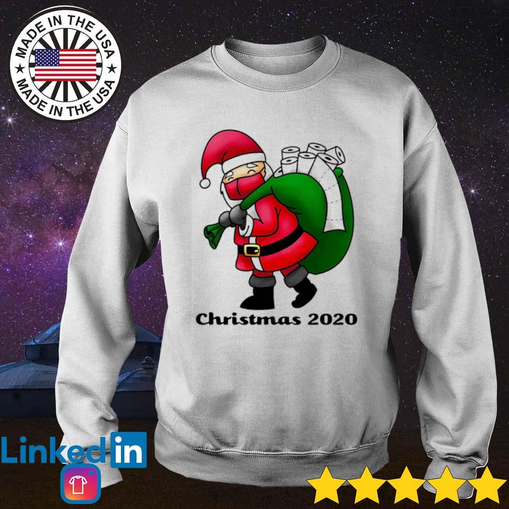 Santa face mask and toilet paper Christmas 2020 sweater