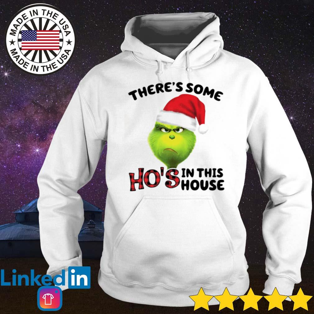 Santa Grinch there's some Ho's in this house Christmas sweater Hoodie