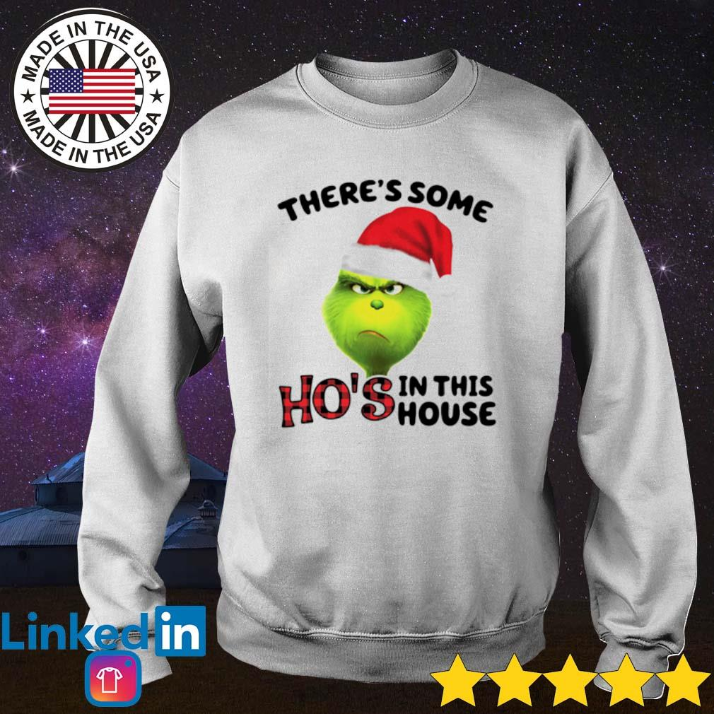 Santa Grinch there's some Ho's in this house Christmas sweater