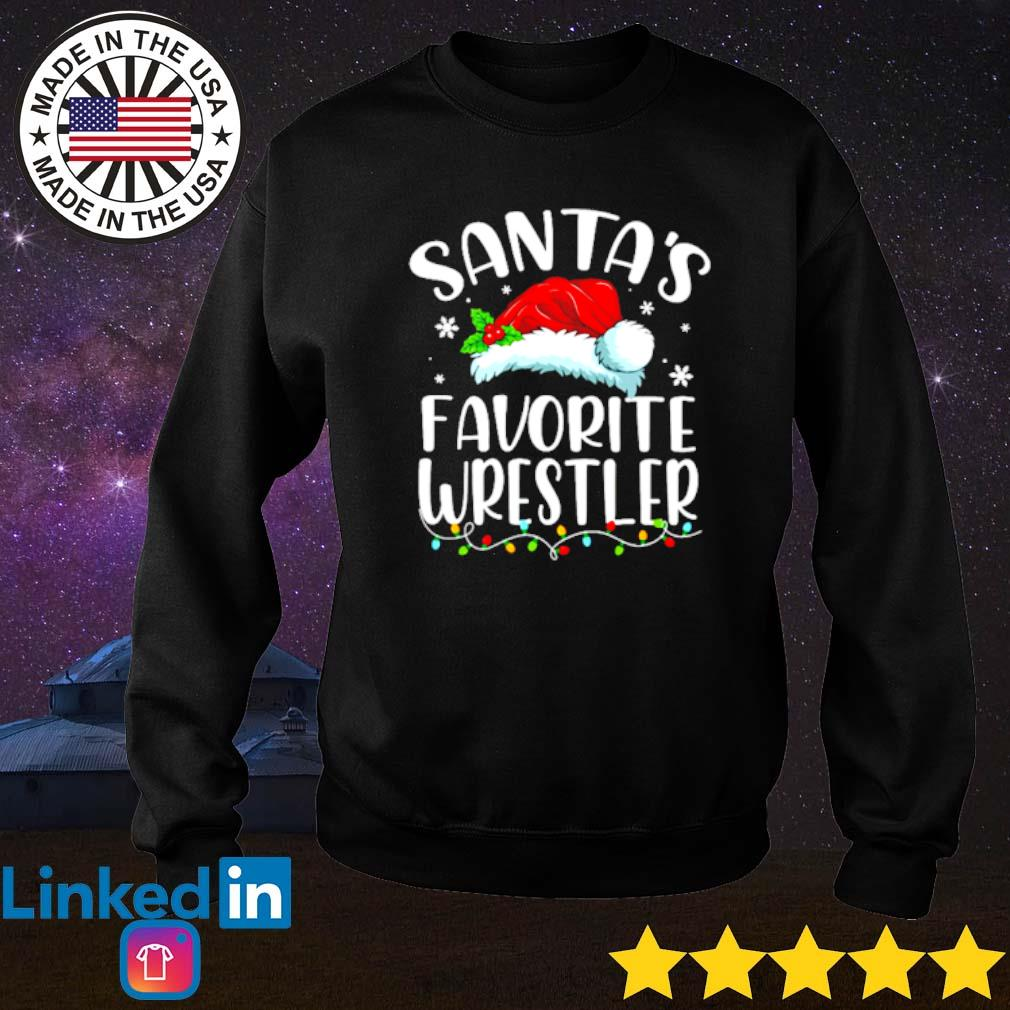 Santa's favorite Wrestler lights Christmas sweater