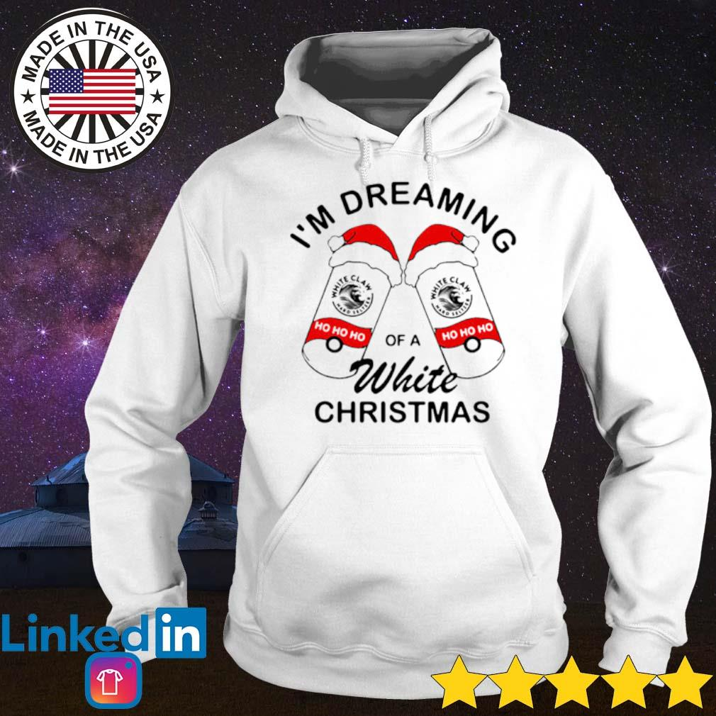 Santa White Claw I'm dreaming of a white Christmas sweater Hoodie