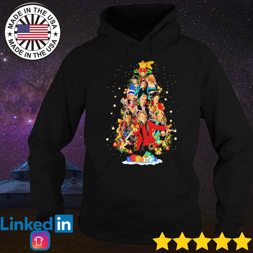 Sing this all together The Rolling Stones Christmas tree sweater Hoodie