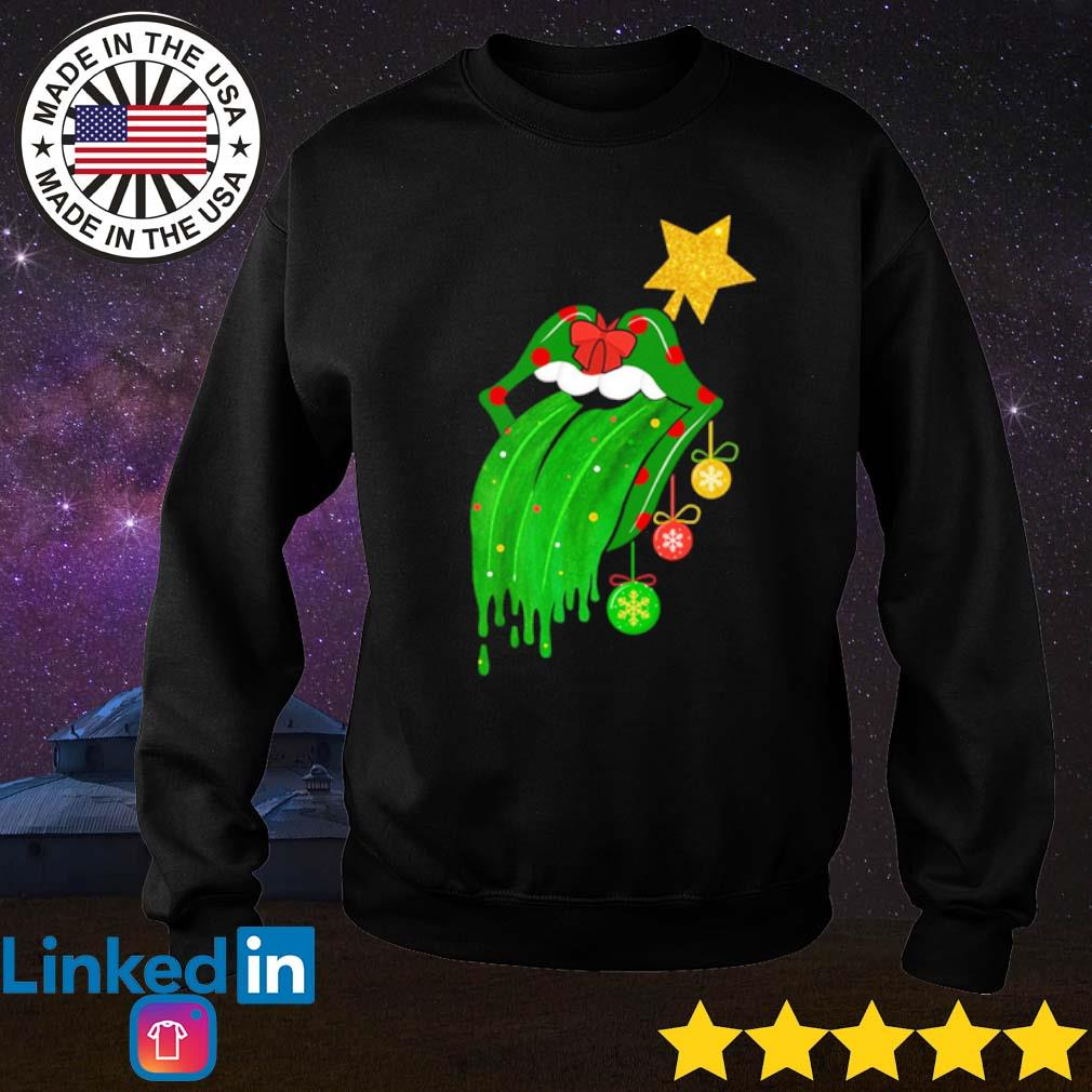 Sing this all together The Rolling Stones green Christmas sweater