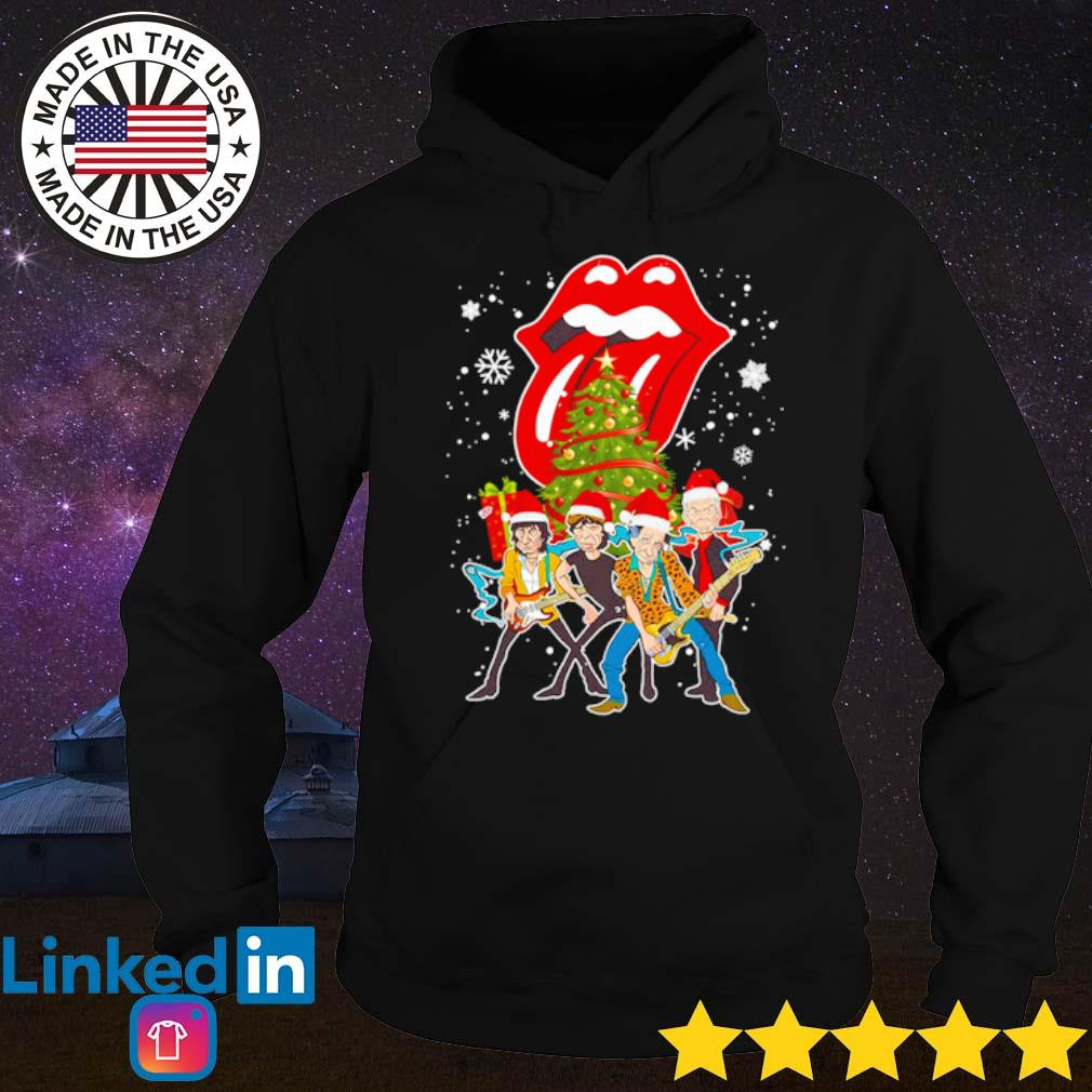 Sing this all together The Rolling Stones Santa hat Christmas sweater Hoodie