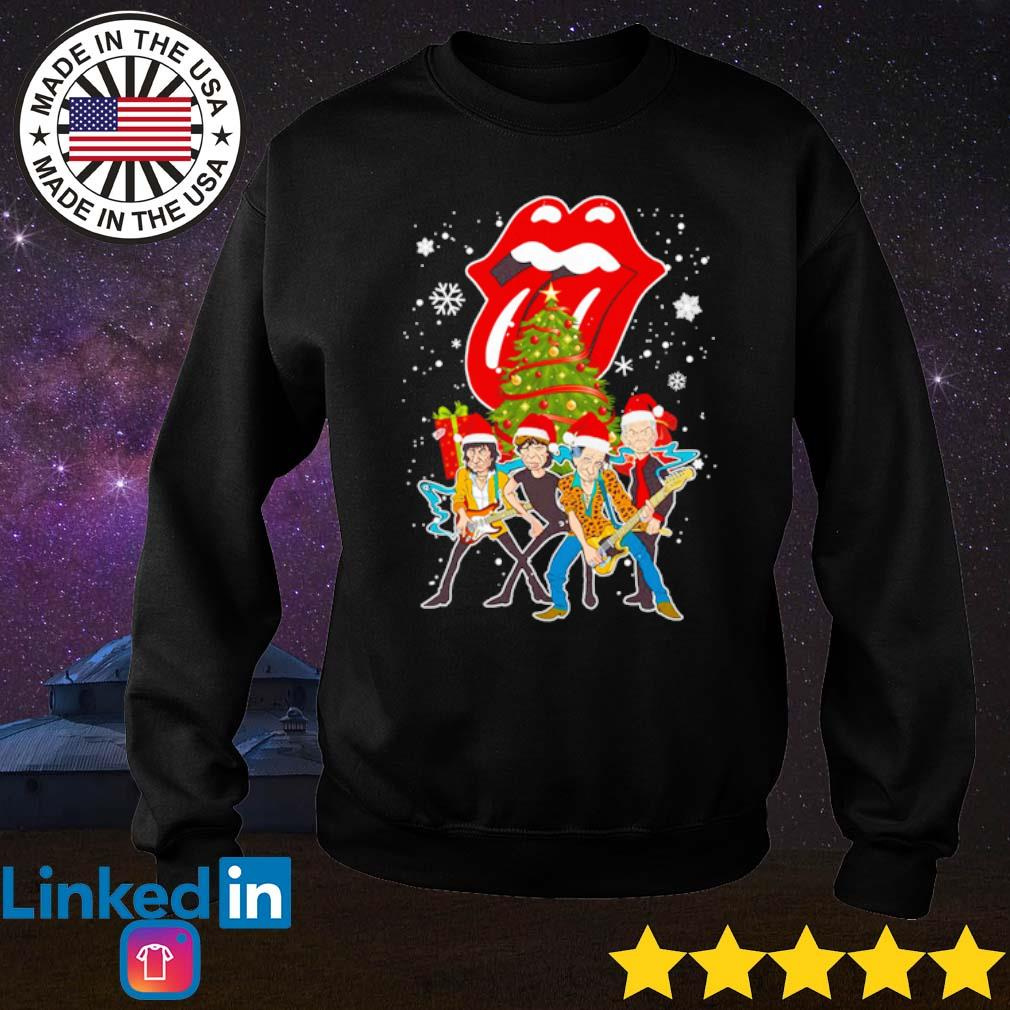 Sing this all together The Rolling Stones Santa hat Christmas sweater