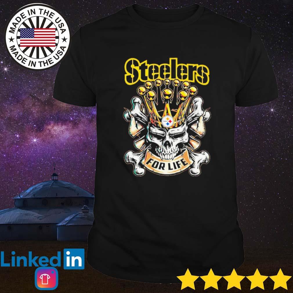 Skull Pittsburgh Steelers for life shirt