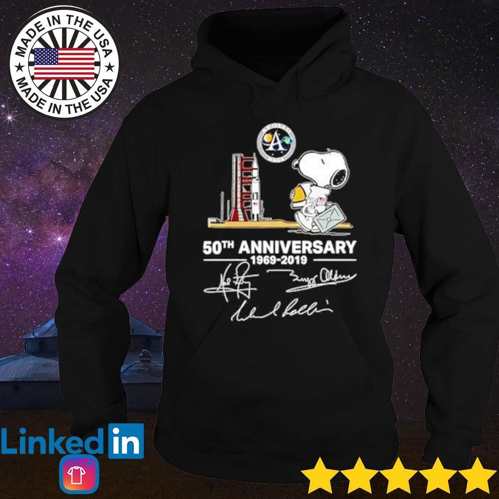 Snoopy Apollo Nasa 50th Anniversary 1969-2019 signature s Hoodie